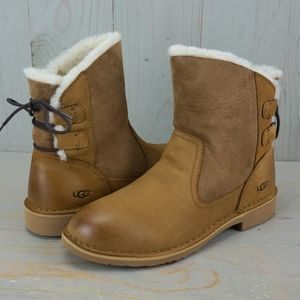 Shoes - UGG NAIYAH CHESTNUT MINI BOOT   CORSET LACED NIB